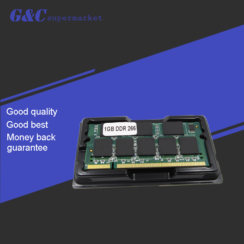 1GB DDR Memory RAM PC2100 SODIMM 200-pin 266Mhz 200PIN For Laptop Notebook Memory RAM Hight Quality