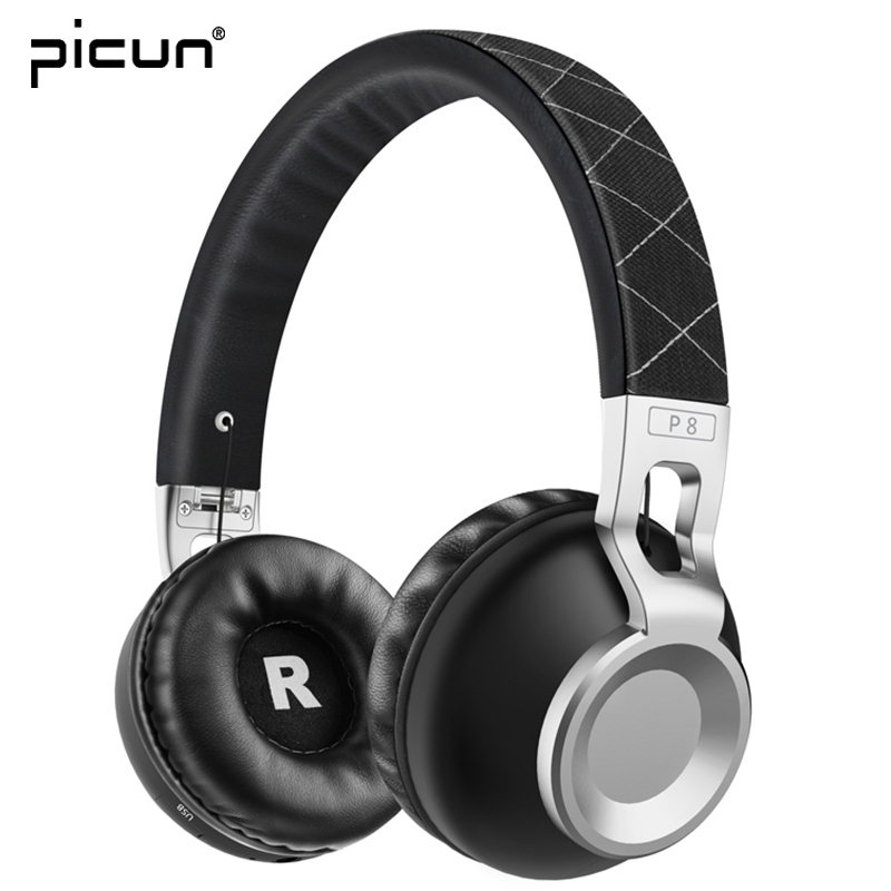 Picun P8 MP3 Headphones Bluetooth Wireless Gaming Headset Earphones For iPhone Xiaomi PC HTC u11 10 one m9 m8 m7 desire 628 Sony