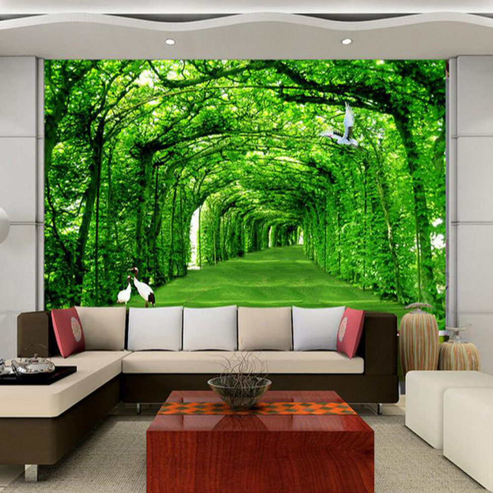 online get cheap wall covering wallpaper aliexpress com alibaba nature landscape green tree for living room wall art decor photo mural wallpaper rolls wall coverings 3d wall murals wallpaper