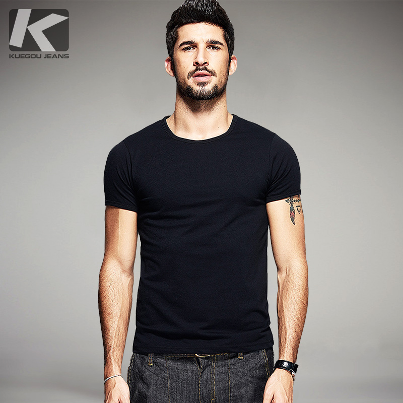 Buy best new 2016 summer mens casual t shirts solid famous for Best t shirts for summer