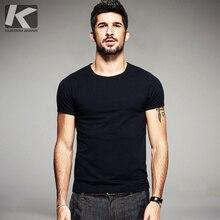 KUEGOU летние мужские повседневные футболки 10 одноцветное Цвета брендовая одежда мужская одежда короткий рукав тонкий футболки Футболки плюс Размеры 601