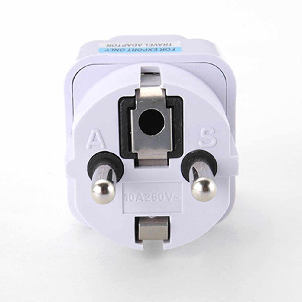 Uniwersalny UK US AU do ue zasilanie prądem zmiennym gniazdo wtykowe adapter ładowarka podróżna konwerter
