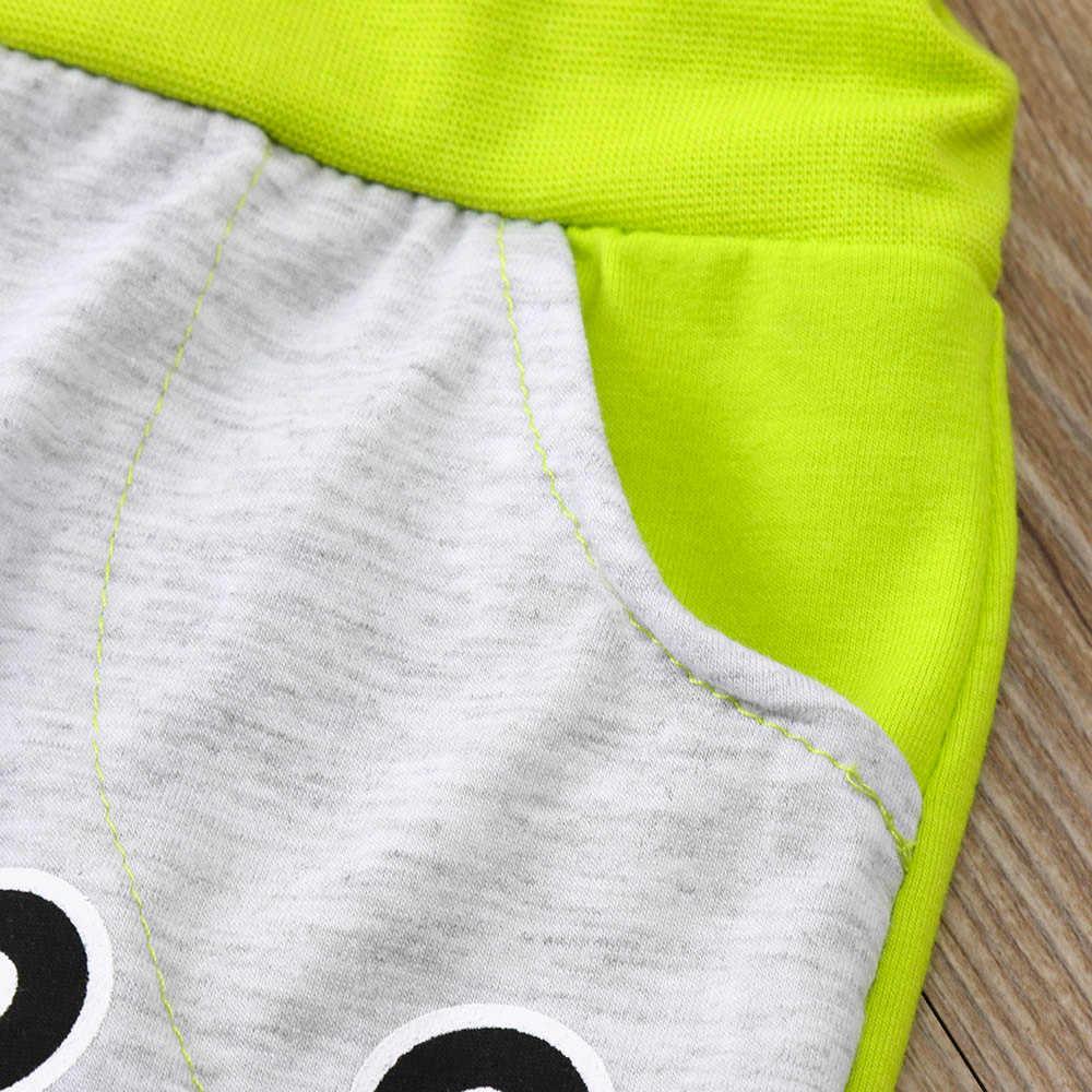 Phim hoạt hình Trẻ Em Quần Áo 2 pcs trẻ em quần áo Bé Trai Bé Gái Dài Tay Quần Áo Đặt Đôi Mắt To Áo + Quần Trang Phục dropshipping