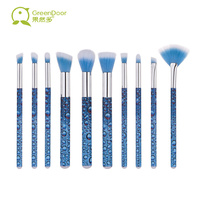 Premiuim 10pcs Makeup Brush Set Soft Nylon Hair Powder Eyebrow Concealer Fan Professional Makeup Artist Brushes