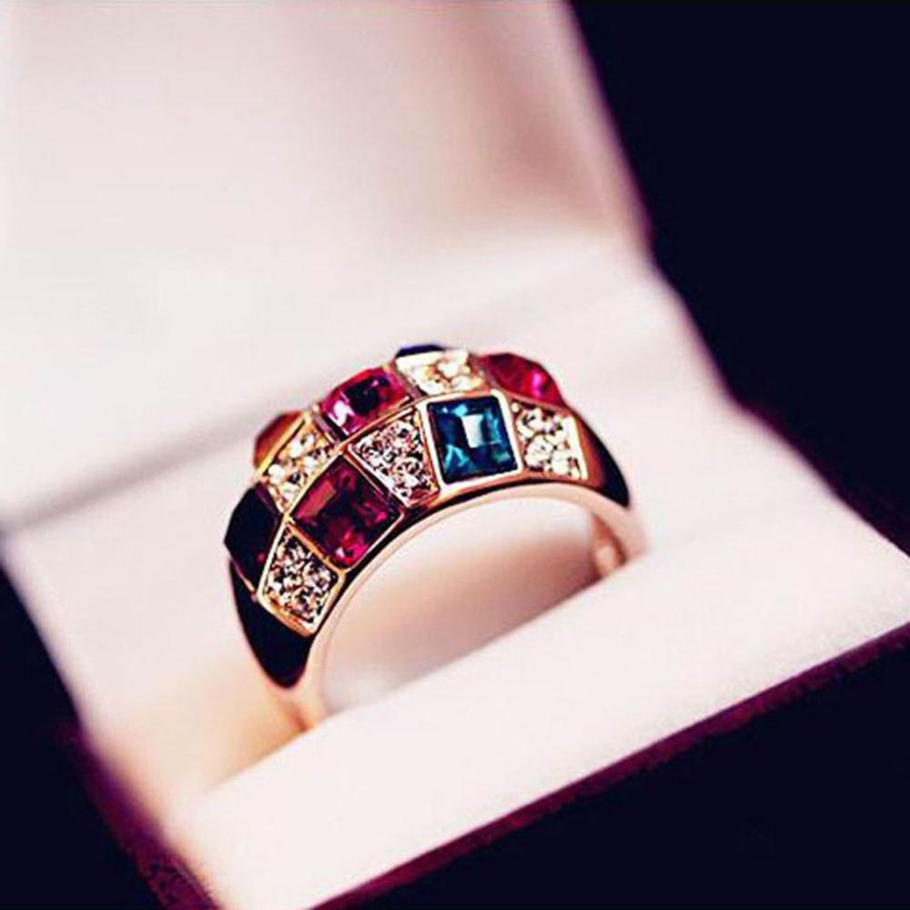 Luxury Crystal Symphony Imitation Ring Female Models