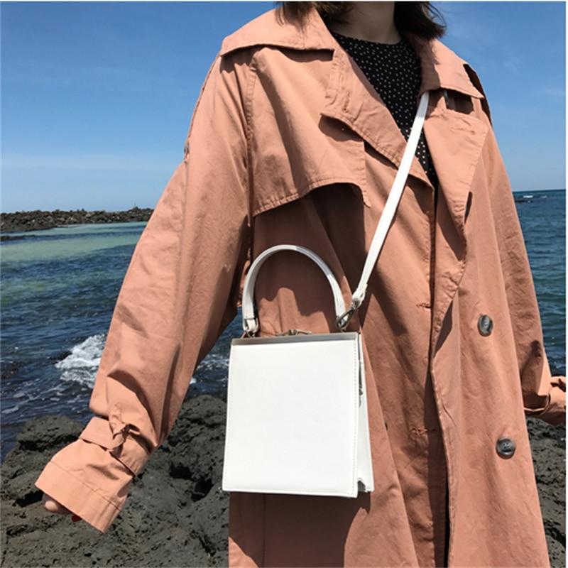 Women handbag Metal clip totes solid ladies evening party bag fashion girls PU leather shoulder messenger