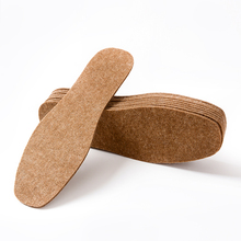 EFBABA Winter Warm Insole Wool Insoles Thick Sweat Breathable Warmth Anti Odor Handmade Shoes Pad Accessories 5 Pairs/set