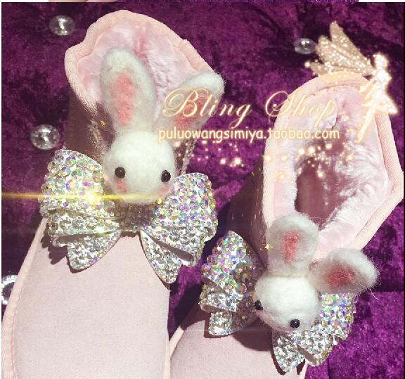 Rosado Real Fondo La De Botas tubo Pavo Plano Bordado Nieve Flor Pesado Mujer Algodón Para Cuero Mayor Rosa tqngTf