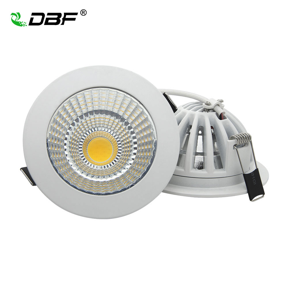 [DBF] Super Bright Dimmable Recessed LED Downlight COB 5W 7W 9W 12W 15W 18W dimming LED Spot light led Ceiling lamp AC 110V 220V 20pcs waterproof driverless dimmable led downlight 5w 7w 9w 12w 15w ceiling lamp light lighting energy saving down lamp ac 220v