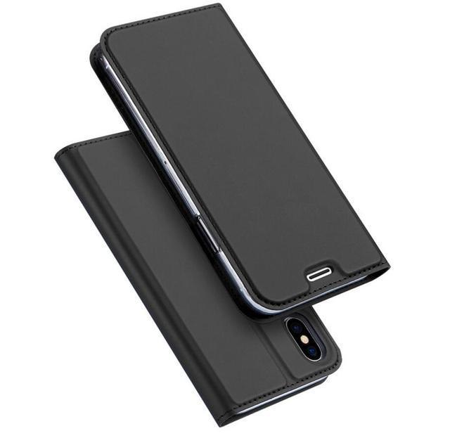 Ultra delgada DUX DUCIS piel Pro Series cartera Funda de cuero Flip para Iphone 5 6 6 s 6 más 7 7 plus x XS x XR XS Max Samsung S8 S9 Nota 9