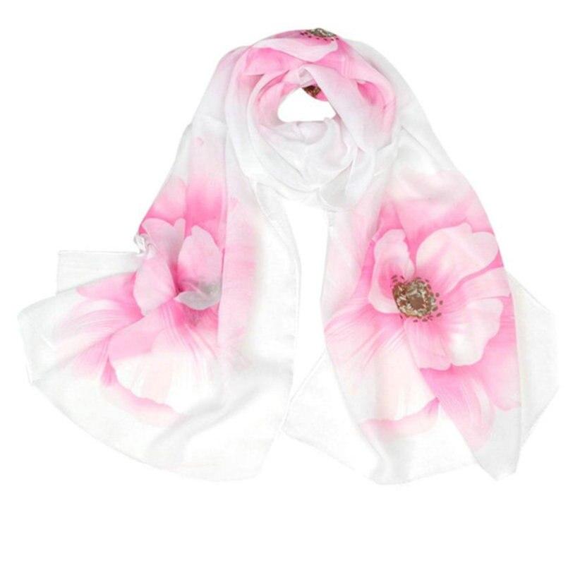 Women Ladies   Scarf     Wrap   Shawl Flower Prrint Girls Women Long Soft Thin   Wrap   Lady Shawl Chiffon   Scarf   Beach   Scarves   cachecol A9