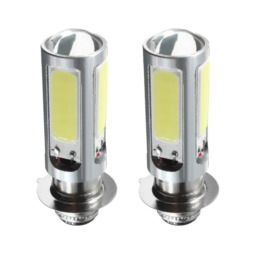 Image 5 - 1 Pair Motorcycle COB Light Bulbs Headlight DC 12V 5 COB SMD LED For Motorcycle/ATV With H6M / PX15d / P15D25 1 Socket Aluminum-in ATV Parts & Accessories from Automobiles & Motorcycles