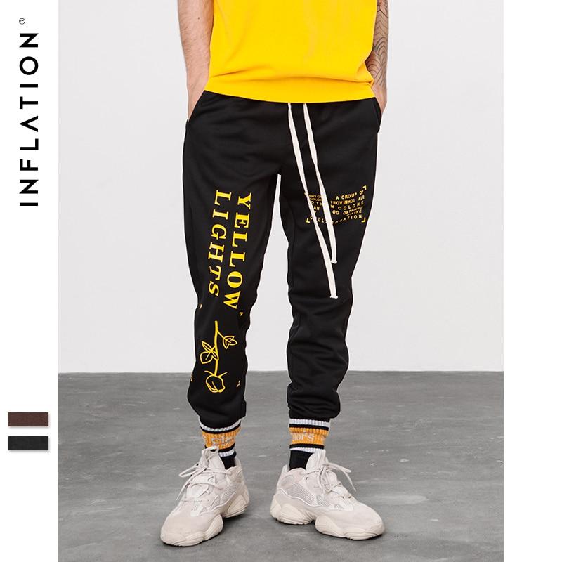 Image 3 - INFLATION Letter pringting sweatpants 2018 autumn streetwear male female pants hip hop trendy fashion track trousers 8835W    -