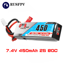 GAONENG GNB 7.4V 450mAh 2S 80C/160C Lipo Battery JST Plug For Mini Brushless FPV Racing Drone Airplane Quadcopter
