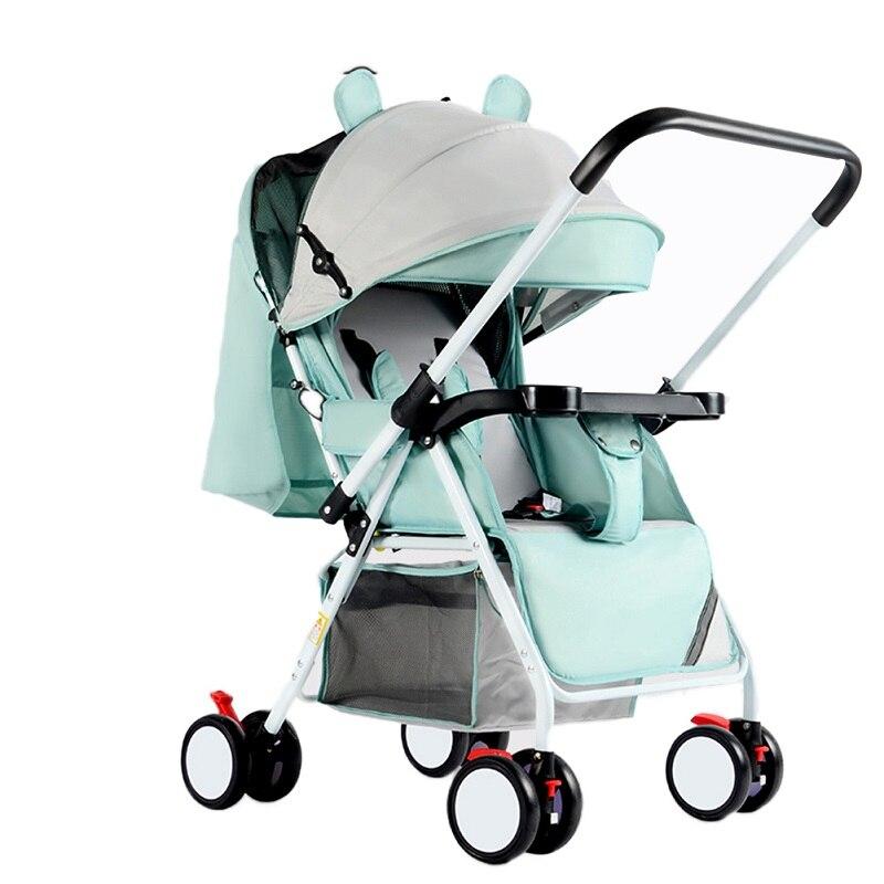 Kidlove nouveau Portable pliant extérieur Double voie couché assis poussette avec 4 roues pour voyage enfants bébé poussette