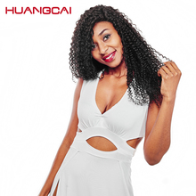 Huangcai hair 1bundle 100% Brazilian kinky curly human Hair Weave full and thick end can be dyed non remy 8-28inch