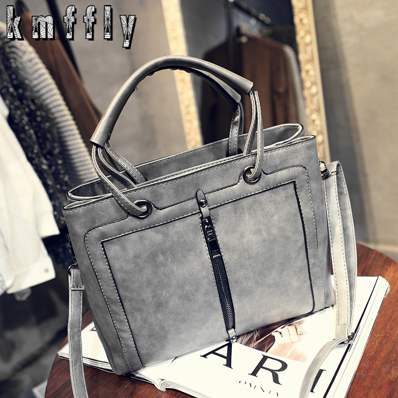 women handbags Single zipper fashion shoulder bags designer handbags messenger bags high quality pu leather handbag sac a main women messenger bags designer handbags high quality 2017 new belt portable handbag retro wild shoulder diagonal package bolsa