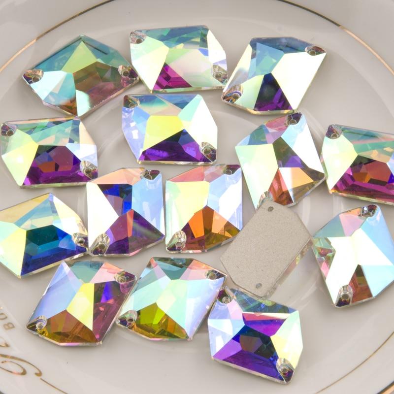Image 3 - YANRUO 3265 todos los tamaños AB cósmico piedras para coser cristal plano costura strass para la decoración del vestido-in Diamante de imitación from Hogar y Mascotas on AliExpress