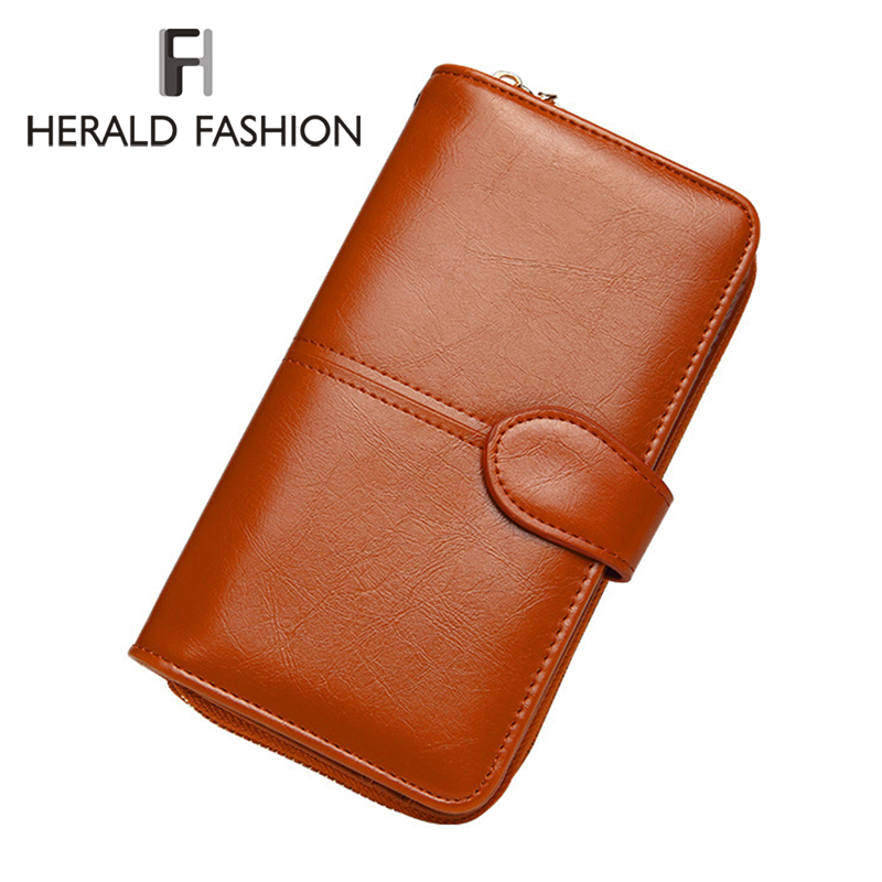 Herald Fashion Women Wallet High Quality Female PU Leather Long & Short Purse Card Holder Wallet Popular Clutch 2018 New Design 2016 new arriving pu leather short wallet the price is right and grand theft auto new fashion anime cartoon purse cool billfold