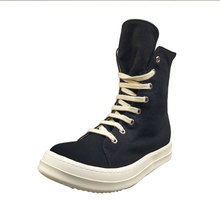 Men Casual Canvas Shoes High Luxury Trainers Lace-Up Zip Spring Male Basic Black Casual Boots Brand Flats Shoes цена в Москве и Питере