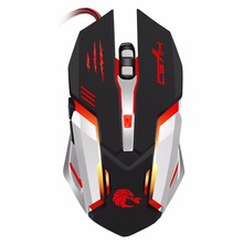 Wried USB Optical Gaming Mouse Ergonomic design with 7color backlit 6button for pc Computer Laptop mouse for women men