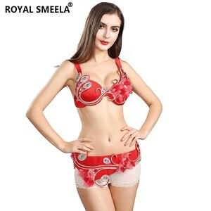 Image 1 - 2020 Vrouwen Hoogwaardige Oosterse Buikdans Kostuum Beha Riem Set Egyptische Buikdansen Kralen Kleding 2Pcs Prestaties Slijtage 8843