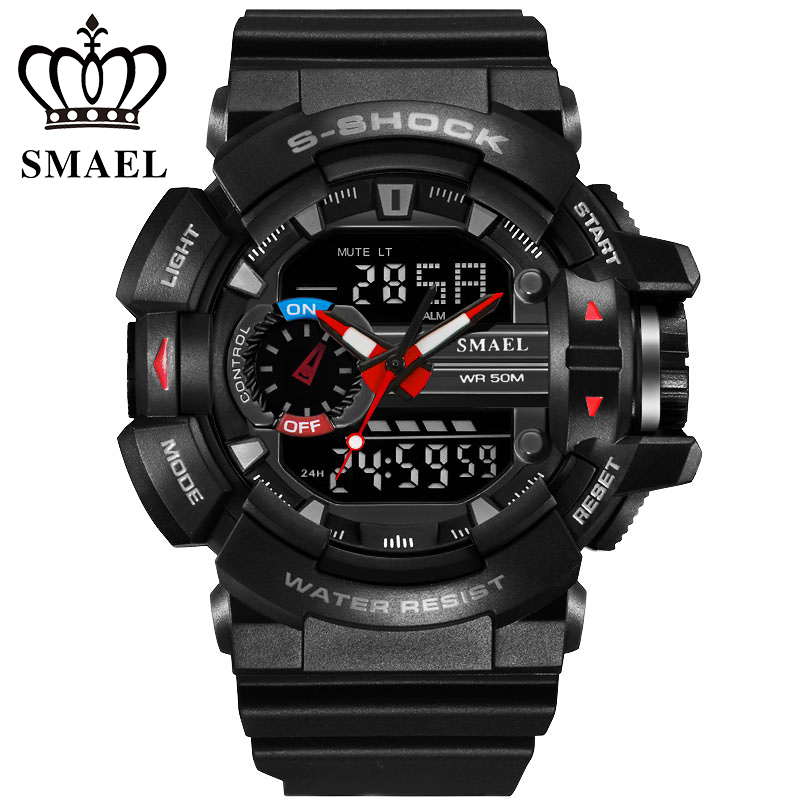 Fashion LED Digital Watches S Shock Men Sports Watches Dual Display Analog Digital Outdoor Army Watch Clock Mens Quartz Watches