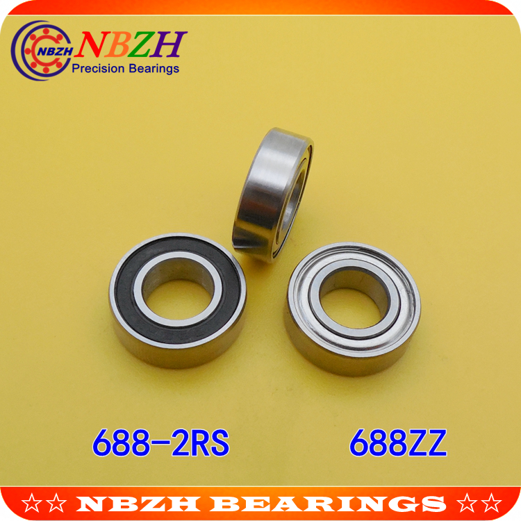 NBZH sale price thin wall deep groove ball bearing  688ZZ  688-2RS  S688ZZ  S688-2RS  8*16*5 mm ABEC-5 Z1
