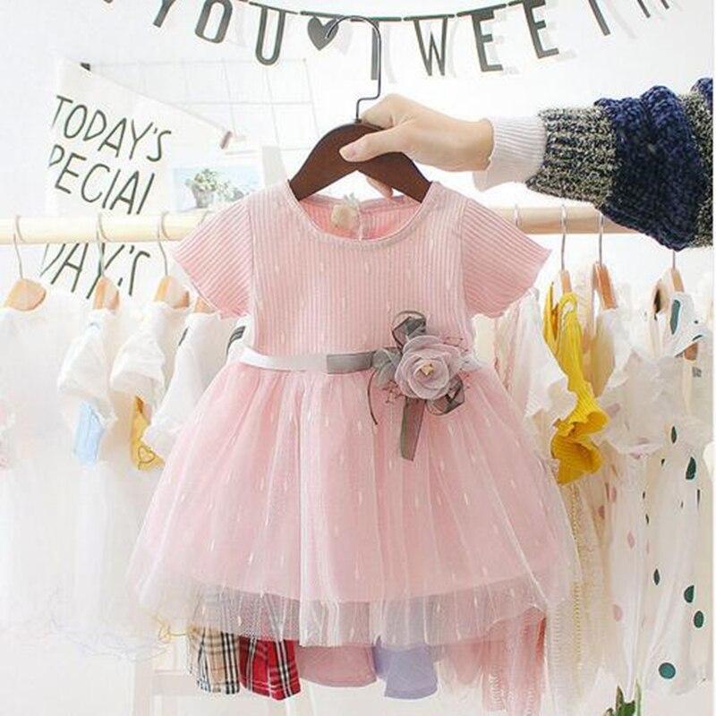 Летние платья на свадьбу для маленьких девочек, модное платье для новорожденных с корроном, кружевное вечернее платье принцессы для девочек, одежда для дня рождения