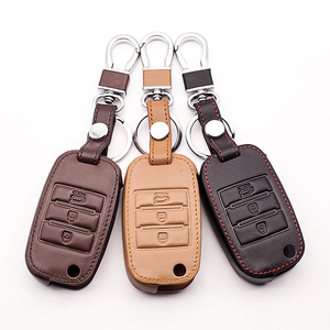 Image 4 - New design leather key case keyboard cover For Kia Rio QL Sportage Ceed Cerato Sorento K2 K3 K4 K5 Fin Key Chain car key case