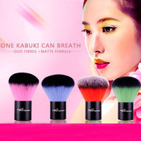 2016 Most Popular Professional Powder Brush High End Synthetic Hair Double Color Kabuki Brush For Beauty