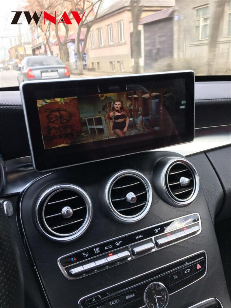 Octacore Android 8.0 4+32GB 10.25 IPS Screen Car DVD Player GPS Navigation For MERCEDES BENZ C GLC GLS W205 GLC-X253 2014-2017 jacques lemans часы jacques lemans u 56a коллекция uefa