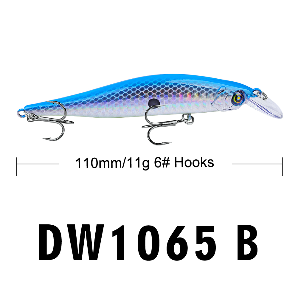 Image 2 - Proberos Fishing Lures 11cm Fishing Bait 11g Minnow Bait 6 Color Fishing Tackle 6# Hook Fishing Tackle Swimbait-in Fishing Lures from Sports & Entertainment