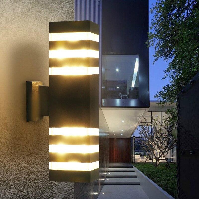 Cheap Price Outdoor Waterproof Wall Lamp Aluminum Ip65 Garden Light Cross Starlight Landscape Sconce Led Decorative Lighting 110v 220v Matching In Colour Lights & Lighting