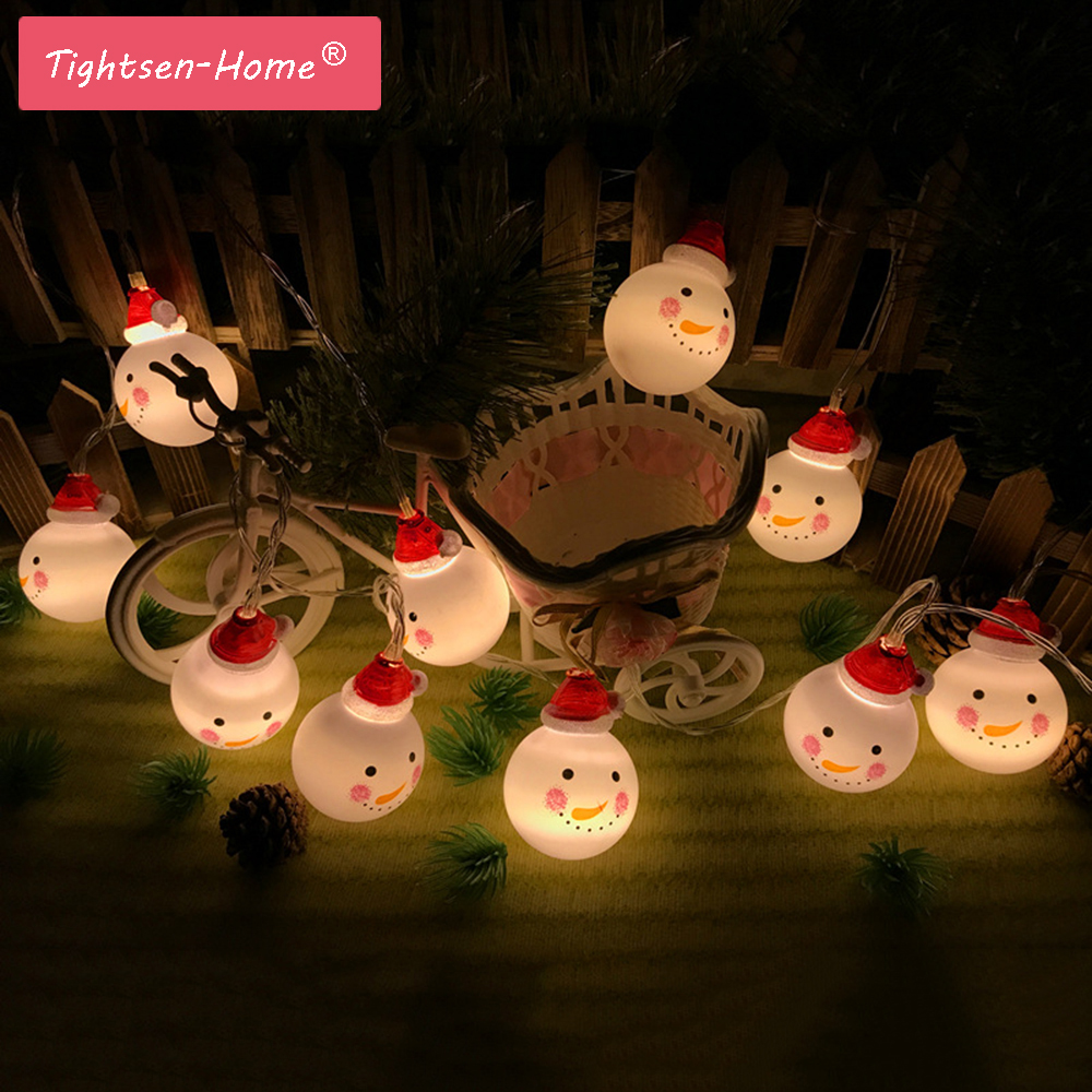 3.5M 20LEDs Snowman Led string light Holiday decoration for Christmas,Birthday,Wedding Tree Party Yard Fairy Light AC220V