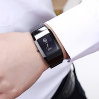 Luxury DALISHI Brand Men Quartz Watch Ceramic Male Business Dress Watches 2018 Fashion Rectangle Dial Clock Relogio Masculino