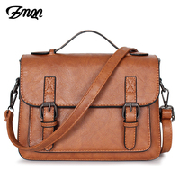 ZMQN Bags For Women 2018 Crossbody Bags PU Leather Small Satchels Vintage Shoulder Bags Handbags Women