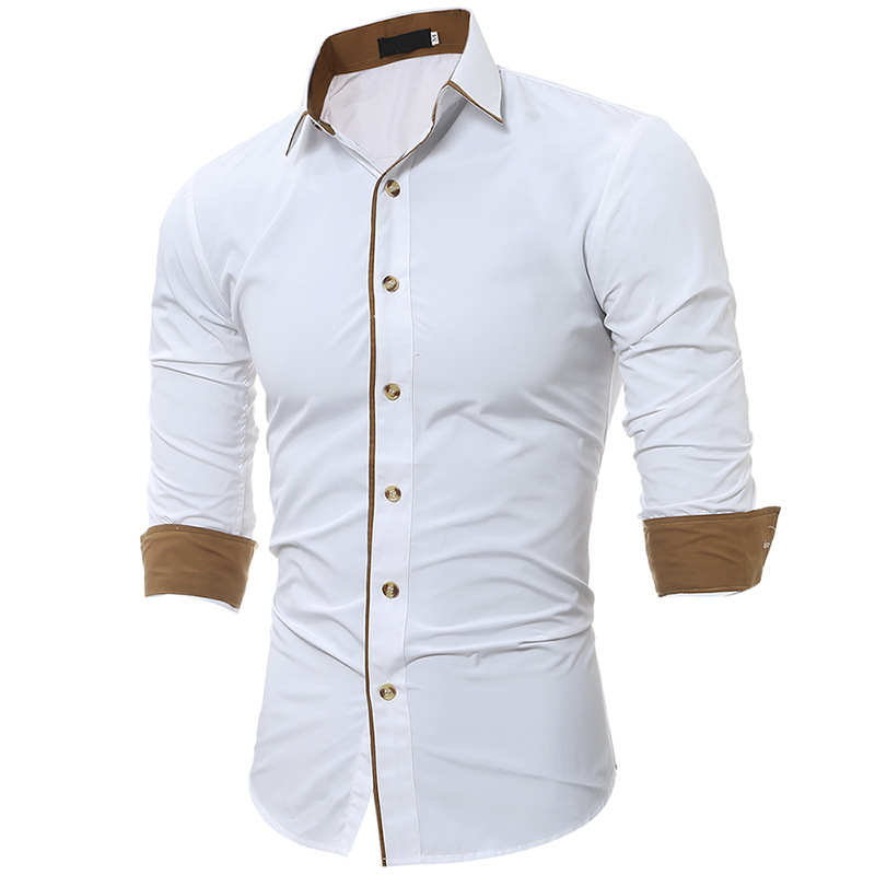 Mens Autumn Winter New Color Casual Camisa Slim Long Sleeve Shirt Fashion Shirts Male Tops 3colour