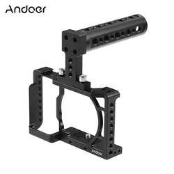 Aluminum Alloy Camera Cage Video Film Stabilizer 1/4 Inch Screw with Cold Shoe Mount for Sony A6500/A6400/A6300/A6000 Camera