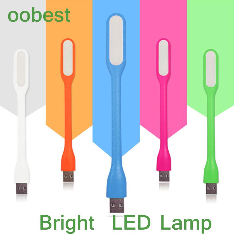 oobest Silica Gel Multicolor Mini Book light Reading Lamp USB LED Light Computer Lamp for Notebook