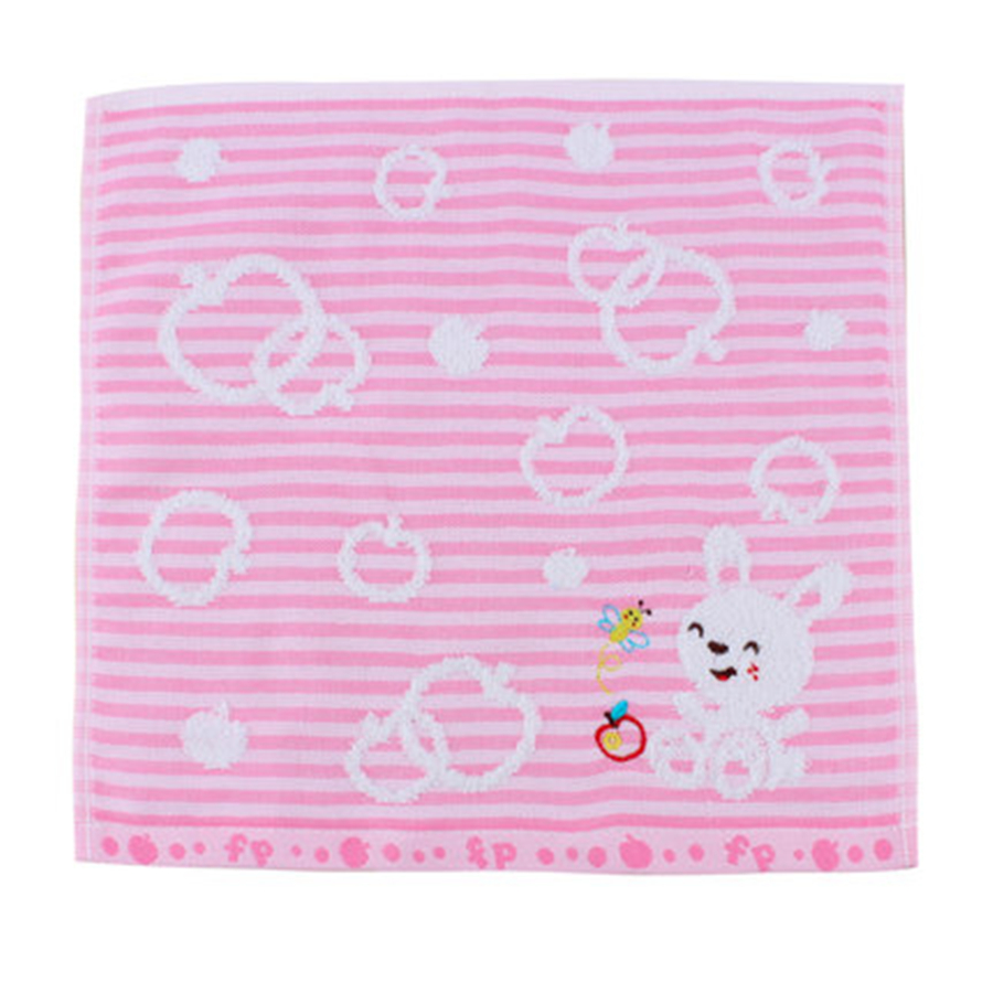 Soft Square Cotton Baby Towel Set Gauze Washcloth Striped Absorbent Wipes Bath Towel Baby Bibs Cotton Cute 70A0210
