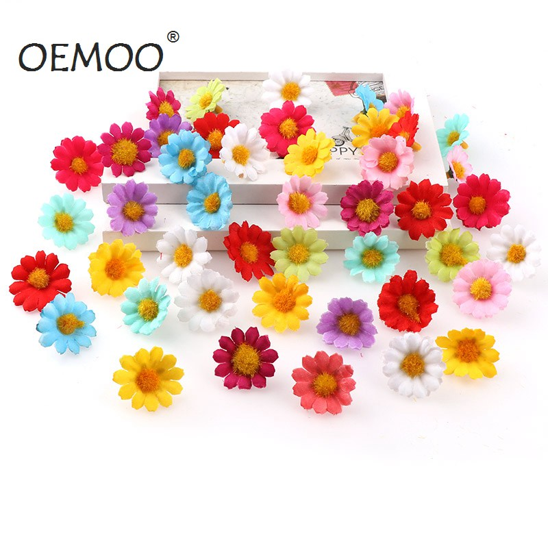 100PC/lot Mini Daisy Decorative Silk Artificial Flower For Party And Wedding Decoration 1