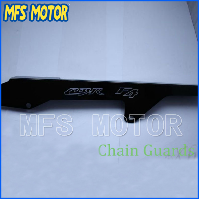 Freeshipping motorcycle parts Aluminum Chain Guards Cover For Honda CBR600 CBR 600 F4 F4i Black motorcycle aluminum