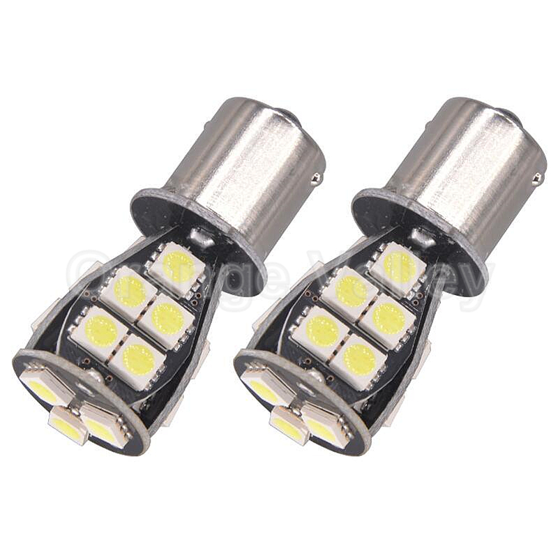 2Pcs 1156 BA15S P21W S25 1459 21 LED 5050 SMD Canbus Car styling Front Turn Signal Lamp Backup Lights DC 12V ruiandsion 2x75w 900lm 15smd xbd chips red error free 1156 ba15s p21w led backup revers light canbus 12 24vdc
