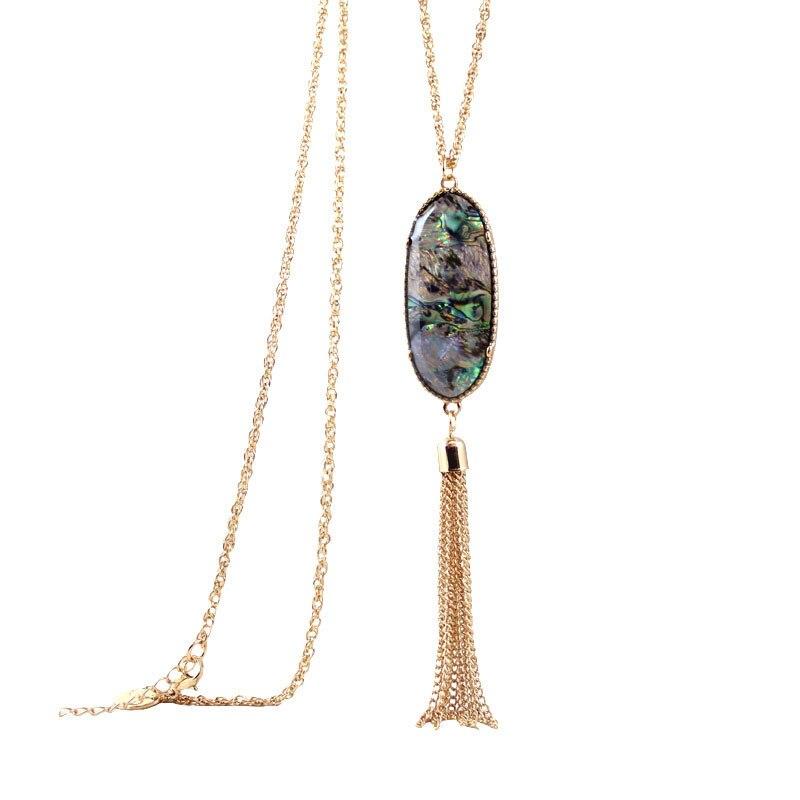 Бесплатная доставка Новые Модные женские ювелирные изделия оптом геометрический цвет кисточкой Кулон Длинные цепи ожерелье свитер женски…