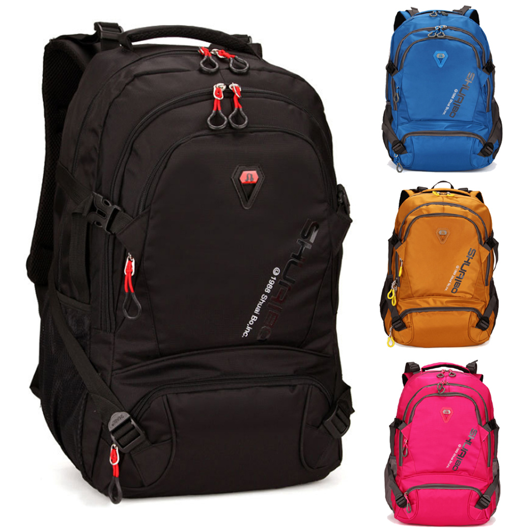 15 15.6 Inch Polyester Laptop Notebook Climbing Mountaineer Outdoor School Backpack Bags Case Backpack for Men Women