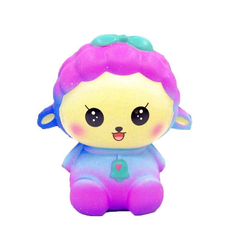 2018 Colorful Novelty Toy Anti-Stress Pu Star Sheep Squishy Cute Alpaca Galaxy Super Slow Rising Scented Fun Buffer Stress Gift