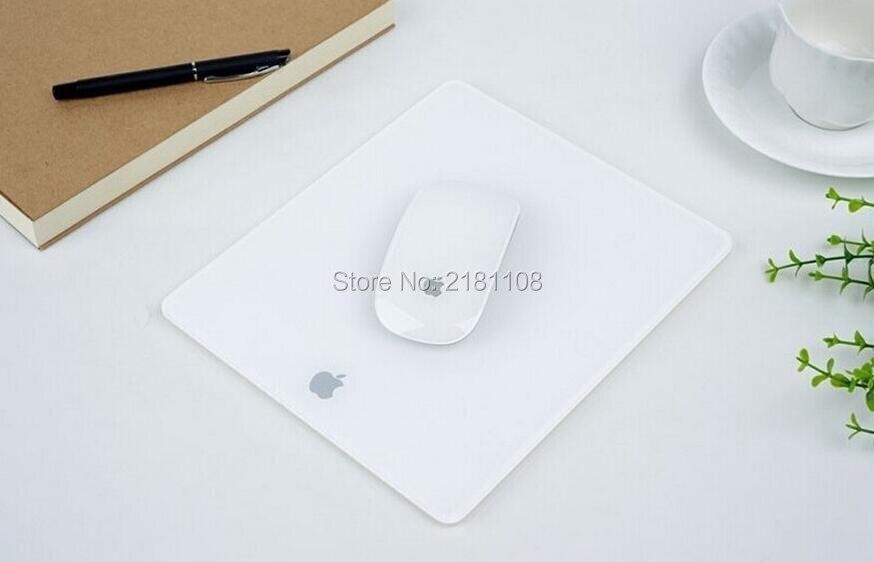 Tapete de vidro da almofada do rato da superfície matte do plexiglás acrílico para o rato do jogo do portátil de macbook