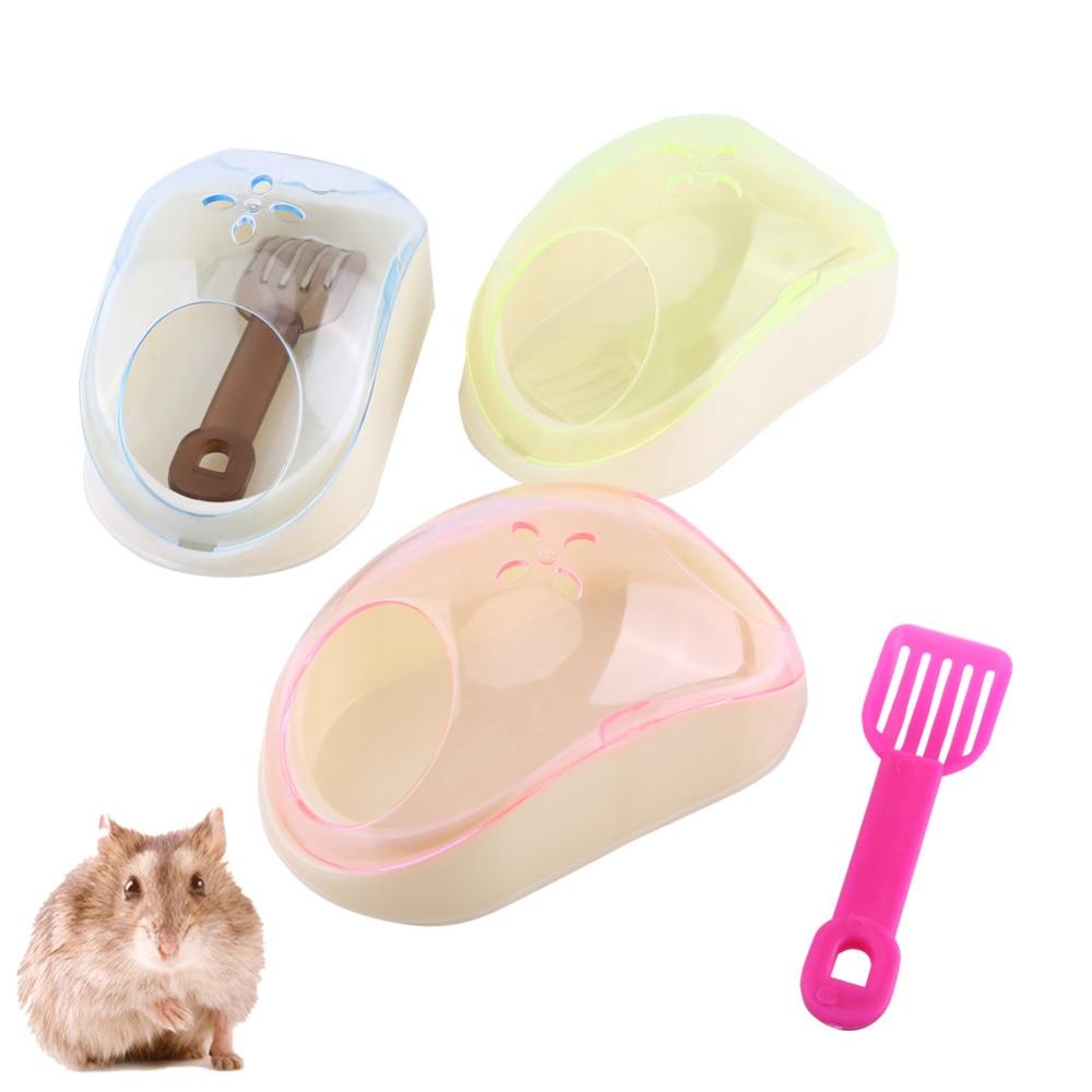 Pet Hamster Bathroom Litter Rat Mouse Bath Sand Sauna Toilet Washroom Box With Shovel Pet Bath Box Toilet new mouse