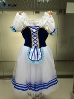 Royal Blue Giselle Ballet Tutu Dress Blue Ballerina Dress Kids Pink Romantic Ballet Tutu DressesBT9068